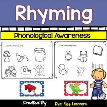 No Prep Rhyming Worksheets
