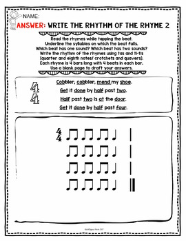 No Prep Rhythm Worksheets: Quarter and Eighth Notes (Ta and Ti-ti)
