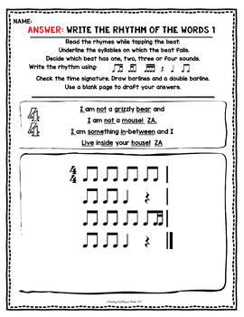Prep Rhythm Worksheets: Sixteenth Note Variations ti-tika tika-ti