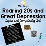 No-Prep Roaring 20s and Great Depression Unit with Depth a