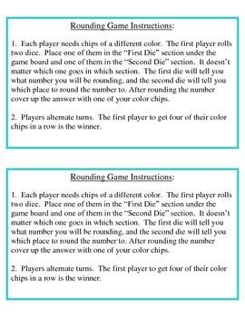 No Prep Rounding Game 4.NBT.A.3