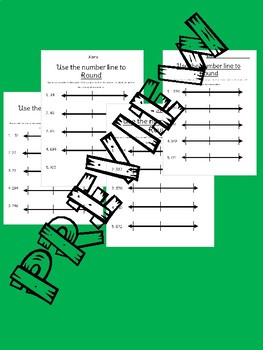No Prep Rounding to the Nearest Ten and Hundred using a Number Line Worksheets