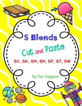 No Prep S Blends SC, SK, SM, SN, SP, ST, and SW Cut and Paste Bundle