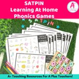 No Prep SATPIN Letters and Sounds Games For Distance Learning