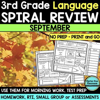 3RD GRADE Homework Morning Work for LANGUAGE & GRAMMAR - S