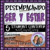 No Prep! SER y ESTAR Unpacking Conjugations   5 Student Centered Activities