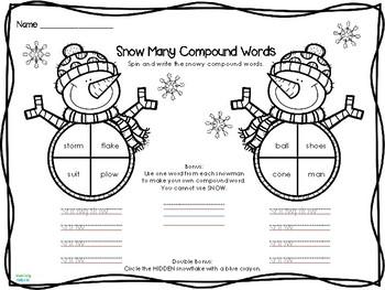 No Prep SNOW Much Fun Winter Literacy - First Grade