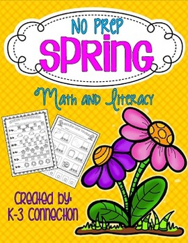 No Prep SPRING Math and Literacy Practice