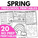 No Prep SPRING Printables and Worksheets for Preschool or Pre-K