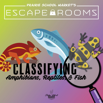No-Prep! STEM Escape Room - Classifying Amphibians, Reptiles, & Fish - Science