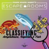 No-Prep! STEM Escape Room - Classifying Amphibians, Reptiles, & Fish - Science