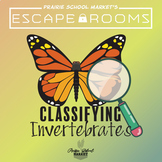 No-Prep! STEM Escape Room - Classifying Invertebrates & Vertebrates Escape Room