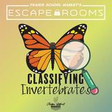 No-Prep! STEM Escape Room - Classifying Invertebrates & Vertebrates Escape Room