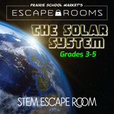 No-Prep STEM Escape Room -Science-Solar System-3rd 4th 5th grade STEM Activities