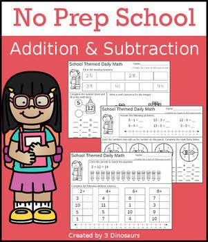 No Prep School Addition & Subtraction