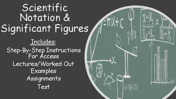 No Prep Scientific Notation & Significant Figures Bundle