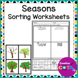 Season Match and Sort Activities and Worksheets