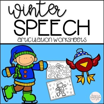 No Prep Seasonal Articulation Worksheets Bundle