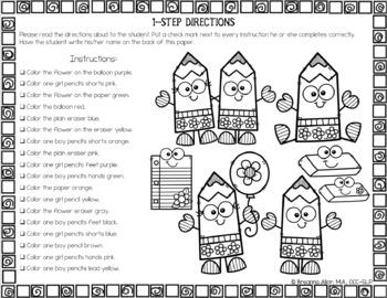 no prep seasonal holiday following directions worksheets. Black Bedroom Furniture Sets. Home Design Ideas