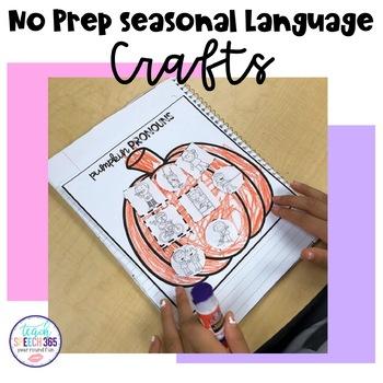 No Prep Seasonal Language Crafts