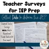 No-Prep, Seasonal Teacher Survey for IEP Data Collection