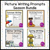 No Prep Seasons Writing Prompt Pictures Bundle