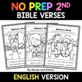 No Prep Second Grade Bible Memory Verse Coloring Sheets - Distance Learning