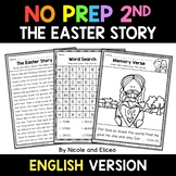 No Prep Second Grade Easter Story Bible Lesson - Distance