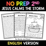 No Prep Second Grade Jesus Calms the Storm Bible Lesson -