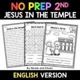 No Prep Second Grade Jesus in the Temple Bible Lesson - Di