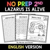 No Prep Second Grade Lazarus is Alive Bible Lesson - Dista