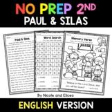 No Prep Second Grade Paul and Silas Bible Lesson - Distanc
