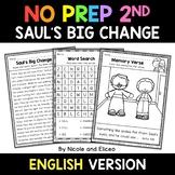 No Prep Second Grade Sauls Big Change Bible Lesson - Dista