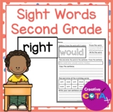 Second Grade Sight Word Worksheets and Activities