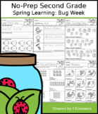 No-Prep Second Grade Spring Learning: Bug Week - Distance