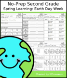No-Prep Second Grade Spring Learning: Earth Day Week - Dis
