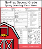 No-Prep Second Grade Spring Learning: Farm Week - Distance