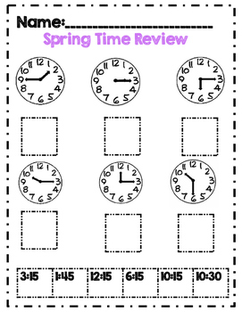 *No Prep* Second Grade Spring Math & ELA Activity Packet