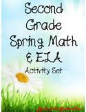 *No Prep* Second Grade Spring Math & ELA Activity Packet