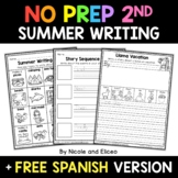 No Prep Second Grade Summer Writing - Distance Learning