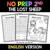 No Prep Second Grade The Lost Sheep Bible Lesson - Distanc