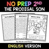 No Prep Second Grade The Prodigal Son Bible Lesson - Dista