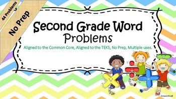No Prep- Second Grade Word Problem Solving Bundle