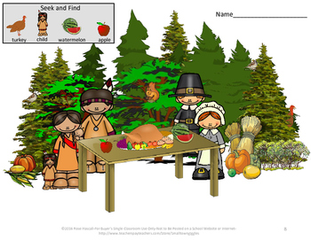 Vocabulary Activities ESL Special Education Speech Fall and Winter Seek and Find