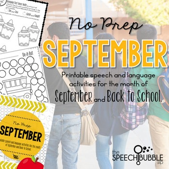 No Prep September and Back to School
