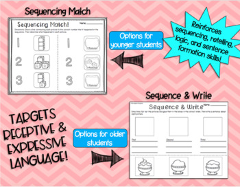 No Prep Sequencing Worksheets