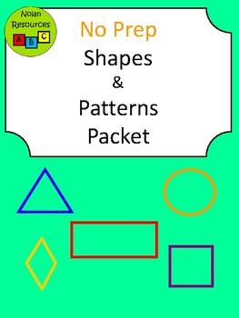 No Prep - Shapes Math Packet