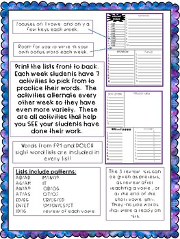 No Prep Short Vowel Spelling Lists and Activities