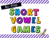 No-Prep Short Vowel Spinner Games