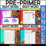No Prep Sight Word Bundle | Kindergarten Sight Words